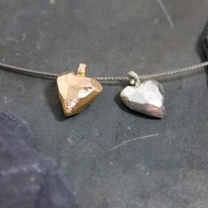 Anhänger 925/- Silber bauchiges Herz ,